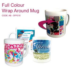 wrap around full colour printed mugs
