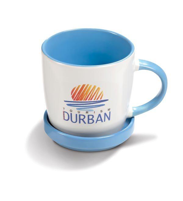 Coffe Mugs with Lid - light blue
