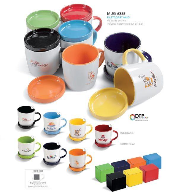 ceramic mug and lid