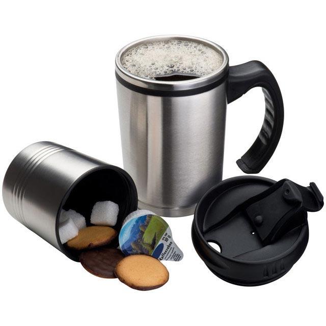 travel mug with cookie holder