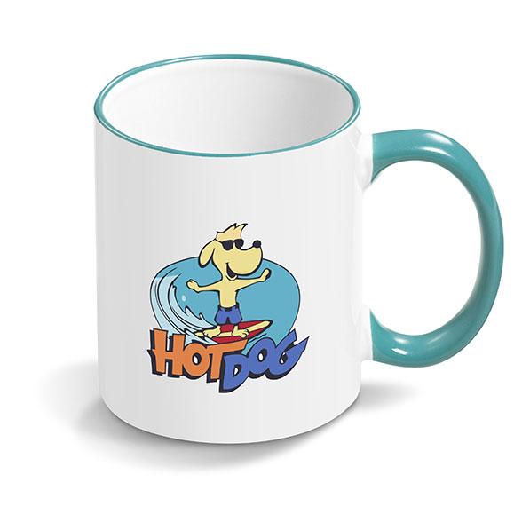 sublimation mug turquoise